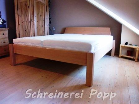 Bett - Gestell Buche massiv