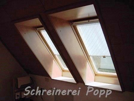 Holz-Verkleidungen für Dachflächenfenster
