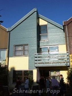 Außenbau - Fassadenverkleidung Taubenblau