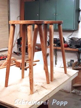 Hocker aus Eschenholz