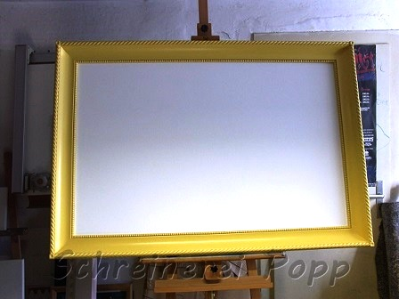 Rahmen Lack gelb