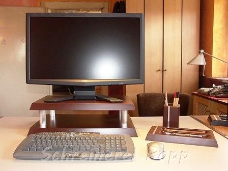 Schreibtischzubehör braun
