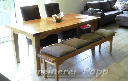 tische und st hle aus holz schreinerei popp bau und m belschreinerei. Black Bedroom Furniture Sets. Home Design Ideas