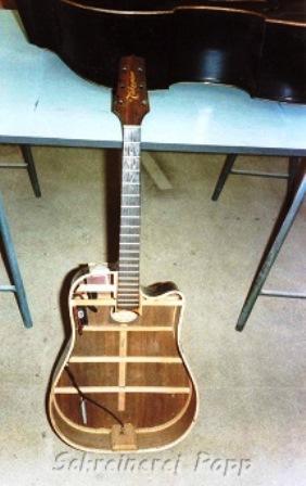 Musikinstrumente - ungedeckte Gitarre