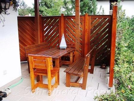 Außenbau - Sichtschutzwände aus Holz